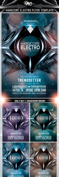 Electro Flyer Electro music, Flyer template and Psd flyer templates - electro flyer