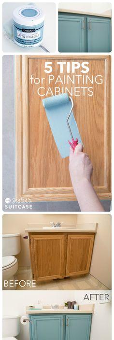 Teal Ish Cabinets For Hall Bathroom
