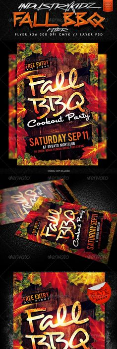 Bbq Party Flyer Template Psd  Party Flyer Flyer Template And Template