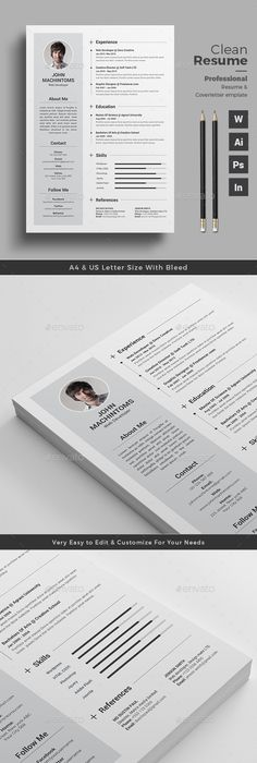 Resume  Ai Illustrator Illustrators And Template