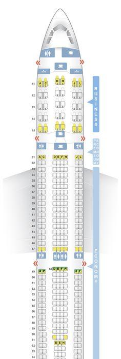Seatguru Seat Map Iberia Airbus A330 300 333 Seatguru