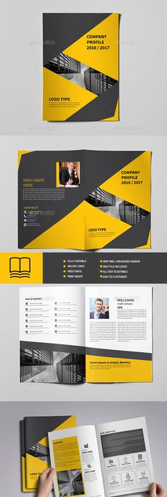 Mini Business Brochure  Pages A Template Indesign Indd
