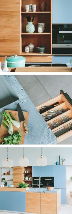 Natürliche Holzküche in elegantem Design von TEAM 7 Holzküchen - cleveres kuchen design