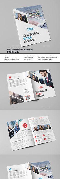 Interior Design Brochure-V340 Brochures, Brochure template and - half fold brochure template