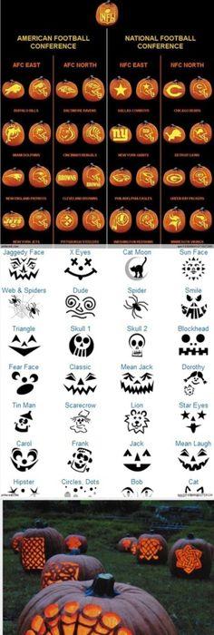 700 freie Last-Minute-Halloween-Kürbis schnitzende Schablonen und ...