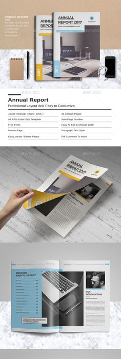 Annual Report Indesign Template   Indesign templates, Annual ...