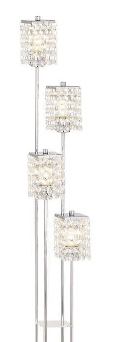 Chandelier floor lamp decor objects pinterest floor lamp chrome crystal vienna full spectrum floor lamp eurostylelighting aloadofball Image collections