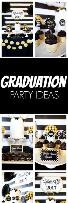 Black and Gold Graduation Party Graduation/End of School ...
