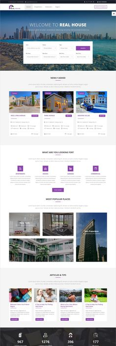 Real House Is A Premium 5in1 Responsive HTML5 #bootstrap Template For Real  Estate, #. Bootstrap TemplateHtml TemplatesApartment WebsitesRental ...
