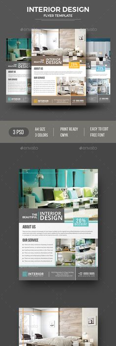 Simple Interior Design Flyer  Brochures Flyer Template And Template