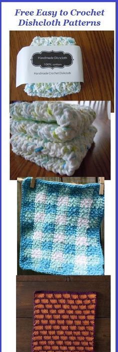 Crochet dishcloths - free pattern used from Red Berry Crochet ...