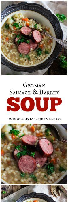 International cuisine 12 german recipes german recipes german german sausage and barley soup graupensuppe easy kielbasa recipeskilbasa forumfinder Image collections