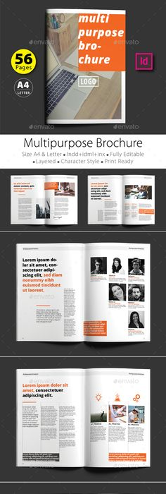 It Company Brochure Design Template 12 Pages Company Brochure