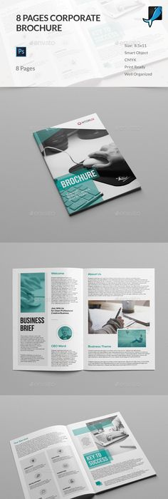 Pages Business Proposal Brochure Template InDesign INDD - 8 page brochure template