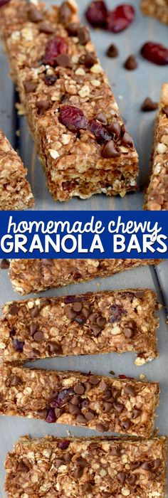 These Homemade Chewy Granola Bars Can Be Made In About 10 Minutes, And They  Are