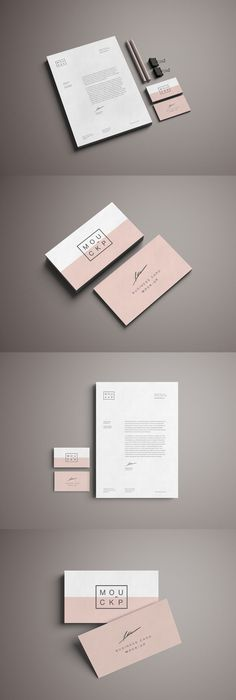 Monogram Cool Business Stationary Visiting Card Design