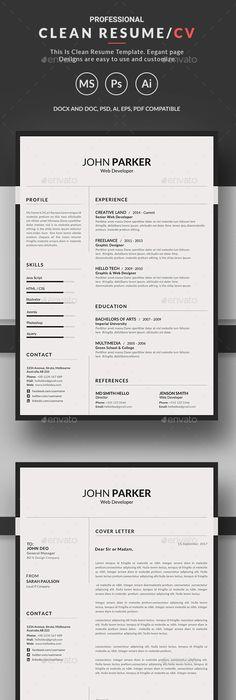 Resume - Resumes #Stationery Resume Pinterest Template, Resume