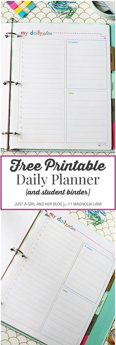 Student Planner Printable  Home Office  Planners  Stationery