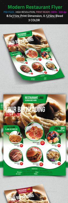 Food Flyer  Restaurants Food And Template