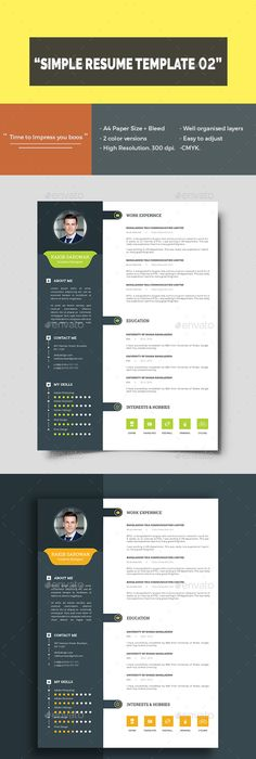 Resume  Template Ai Illustrator And Infographics