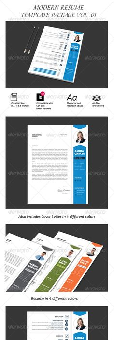 Strong Typography Resume Template Resume Design Pinterest - different resume templates