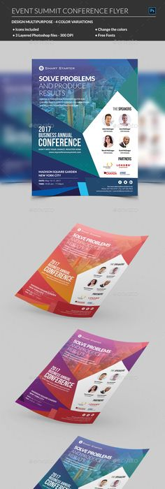 Event Summit Conference Flyer  Photoshop Flyer Template And Template