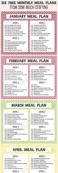 Meal Plan Recipe Cards  What To Make For Dinner  Recipe Cards