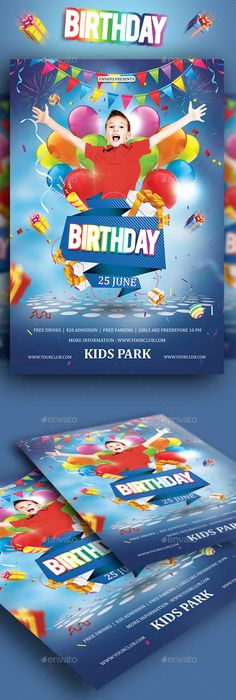 Kids Party Flyer Template Party flyer, Flyer template and Template