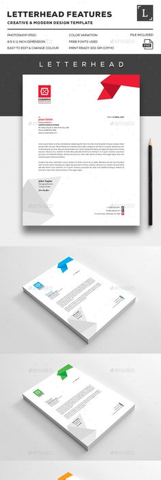 Business Company Letterhead Template  Free Small Medium And