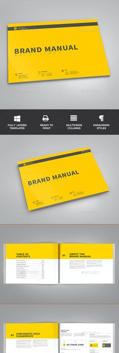 Brand Manual By Egotype On Creative Market   Branding