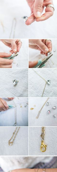 Pretty diy bracelets jewelry do it yourself diy diy jewelry an easy tutorial for a delicate diy rhinestone bracelet made with scrapbooking gems solutioingenieria Image collections