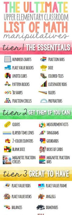 70 cool math games math gaming and activities the ultimate list of math manipulatives for upper grades excellent post about every math manipulative publicscrutiny Image collections