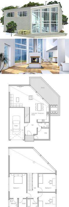 Maison Booa écologique Très Design à Ossature Bois. Plain Pied De 5 Pièces  Du0027une Surface De 137 M² Habitables (162 M² Bruts) Sur Un Terrain De 8 Aru2026