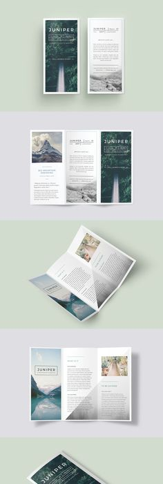 The Resort Minimal TriFold InDesign Template X Apple - Tri fold brochure indesign template
