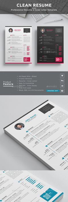 Word CV Resume 3 Pages Ai illustrator, Template and Business flyers