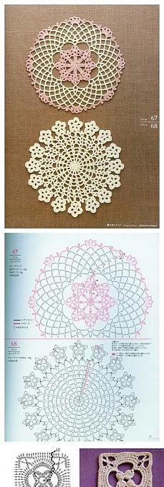 Crochet Home Kitchen Doily Assorted Doily Patterns Pieces