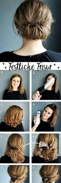 Schnelle frisuren für schulterlanges haar Frisuren