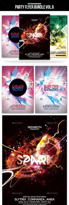 Trance Electro Party Flyer Party flyer, Print fonts and Flyer template