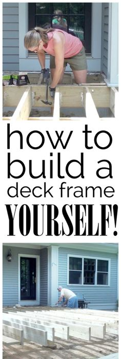 deck building plans do yourself.  Video How to Build a Deck Frame Building A PorchDeck PlansHouse BuildingDiy To Beautiful Platform In Weekend