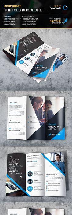 Corporate Tri Fold Brochure Template Psd Download Here