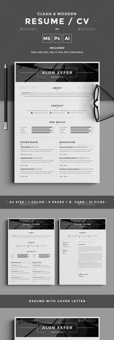 Best Minimal Resume Templates    Graphic Design