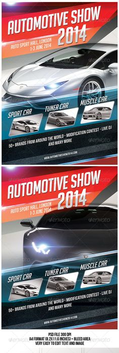 Car Show Tuning Automobile Flyer Template Psd Design Download