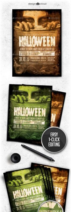 Halloween Zombie Night Party Flyer  Psd Template Halloween Night