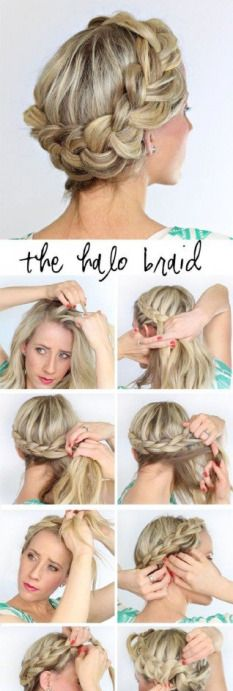 Tutorial On A Fat Halo Braid How To By Sophia Gill Check Out More Hair Bellashoot