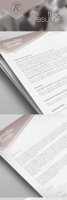 Smart Freebie Word Resume Template  The Minimalist  Cv Template