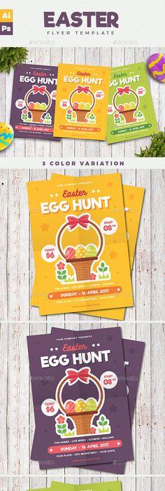 Easter Egg Hunt Flyer Event flyers, Easter and Flyer template