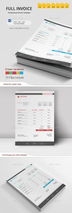 Creative Invoice  Proposal Template Designs  Proposal