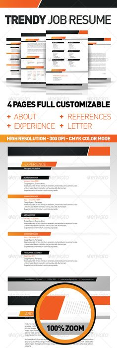 Striped Resume and Cover Letter Multi-Color Pack $500 WORK SMORK