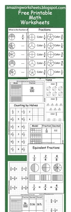 Free Pizza Fraction Printable Activities: Equivalent Fractions ...