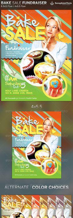 Bake Sale Fundraiser  Free Flyer Template  Piercings